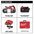 Milwaukee 2729-21 M18 FUEL Cordless Lithium-Ion Deep Cut Band Saw with XC 5.0 Ah Battery image number 1