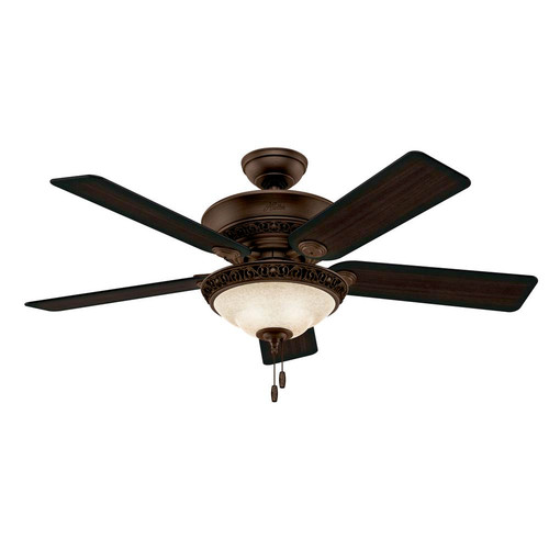 Hunter 53200 52 in. Italian Countryside Cocoa Ceiling Fan with Light
