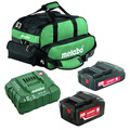 Metabo US625596052 Ultra-M 2 Ah and 5.2 Ah Lithium-Ion Battery (2-Pack), Charger, and Canvas Bag Kit image number 1