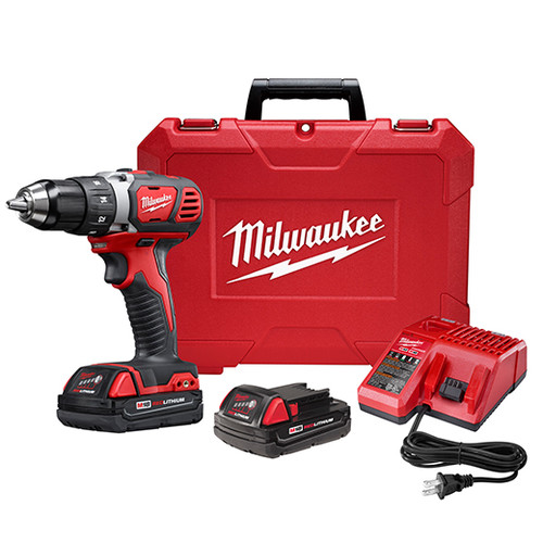 Factory Reconditioned Milwaukee 2606-82CT M18 18V Cordless Lithium-Ion 1/2 in. Drill Driver Kit