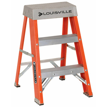 Louisville FS1502 2 ft. Type IA Duty Rating 300 lbs. Load Capacity Industrial Fiberglass Step Stool