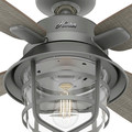Hunter 50390 52 in. Port Royale Matte Silver Ceiling Fan with LED Light Kit and Remote image number 7
