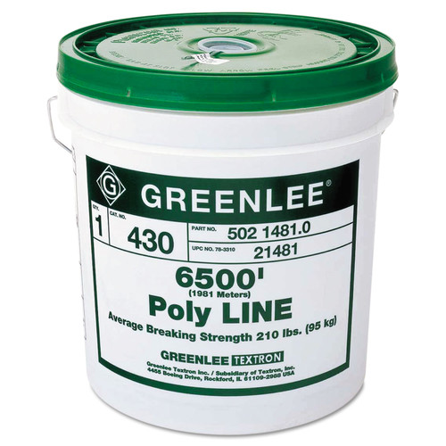 Greenlee 332-430 6,500 ft. Poly Line