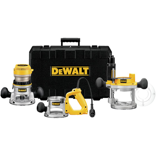 Dewalt DW618B3 2-1/4 HP EVS Three Base Router Kit