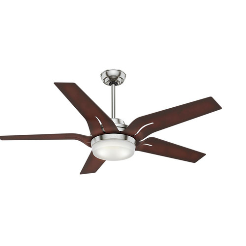 Casablanca 59198 Correne 56 in. Brushed Nickel Coffee Beech Indoor Ceiling Fan with Light and Remote