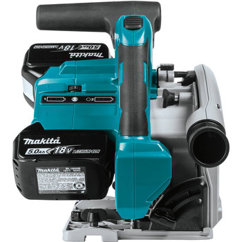 Factory Reconditioned Makita XPS01PTJ-R 18V X2 5.0 Ah Cordless Lithium-Ion Brushless 6-1/2 in. Plunge Circular Saw Kit image number 5
