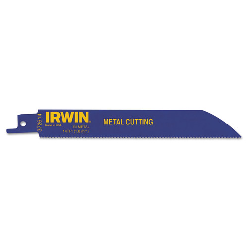 Irwin 372614B 6 in. 14 TPI Metal Cutting Reciprocating Saw Blade image number 0