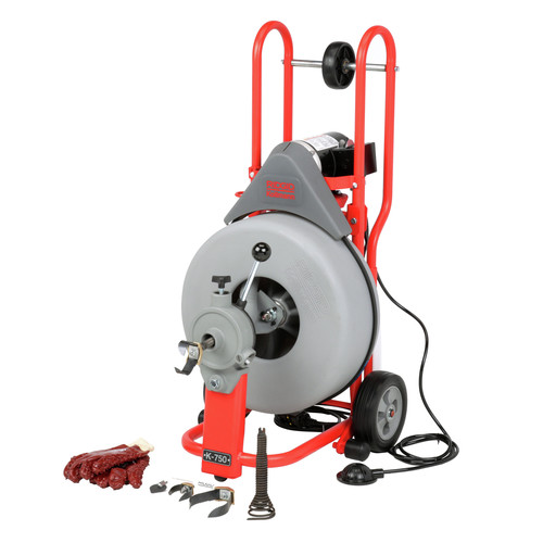 Ridgid K-750 3/4 in. x 100 ft. Autofeed Wheeled Drum Machine image number 0