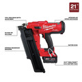 Milwaukee 2744-21 M18 FUEL 21-Degree Cordless Framing Nailer Kit (5 Ah) image number 2