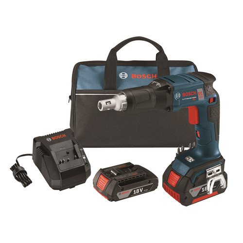 Bosch SGH182-03 18V Cordless Lithium-Ion Brushless Drywall Screwgun with 2 Batteries