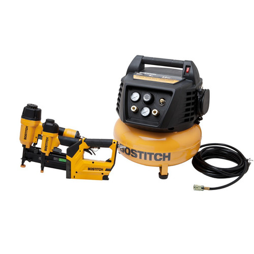 Factory Reconditioned Bostitch BTFP72646-R 3-Tool Finish & Trim Compressor Combo Kit