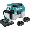 Makita XCV11T 18V LXT Lithium-Ion Brushless Cordless 2 Gal. HEPA Filter Portable Wet/Dry Dust Extractor/Vacuum Kit (5 Ah)