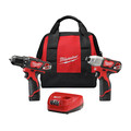 Milwaukee 2494-22 M12 Lithium-Ion 3/8 in. Drill Driver and Impact Driver Combo Kit image number 0