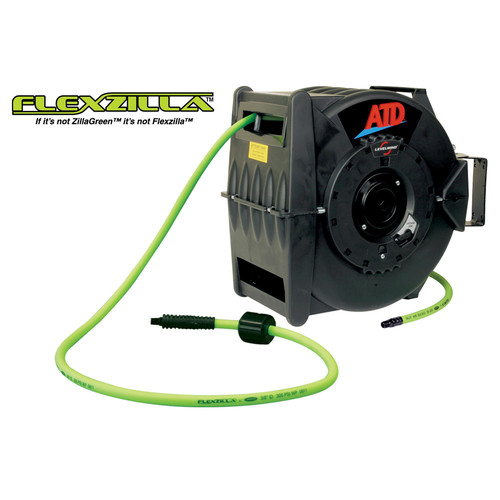 ATD LevelWind 3/8 in. x 60 ft. Premium FlexZilla Retractable Air Hose Reel image number 0