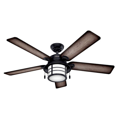 Hunter 59135 Key Biscayne 54 in. Weathered Zinc Burnished Grey Pine Outdoor Ceiling Fan