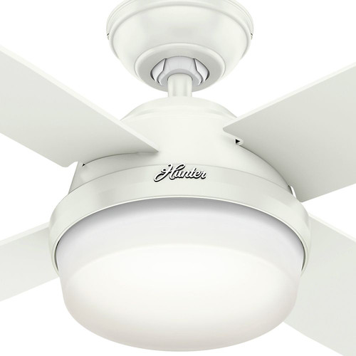 Hunter 59442 60 in. Dempsey with Light Fresh White Ceiling Fan with Light and Handheld Remote image number 3