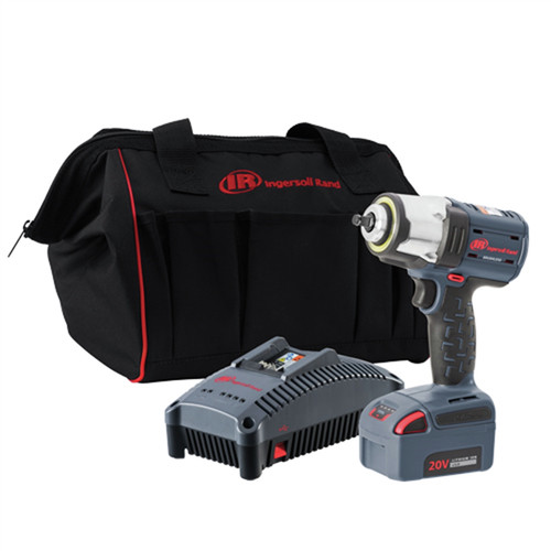 Ingersoll Rand W5133-K12 Brushless Lithium-Ion 3/8 in. Cordless High Torque Impact Wrench Kit (5 Ah) image number 0