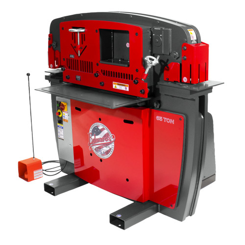 Edwards IW65-3P230-AC600 230V 3-Phase 65 Ton JAWS Ironworker with Hydraulic Accessory Pack image number 0