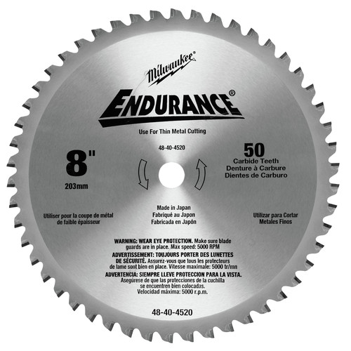 Milwaukee 48-40-4520 8 in. Circular Saw Blade (50 Tooth)