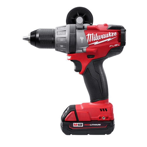 Factory Reconditioned Milwaukee 2604-82CT M18 FUEL 18V Cordless Lithium-Ion Hammer Drill with CP Batteries