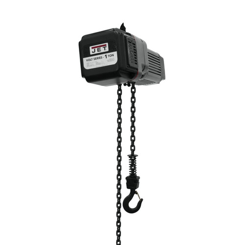 JET VOLT-100-13P-10 1 Ton 1-Phase/3-Phase 230V Electric Chain Hoist with 10 ft. Lift