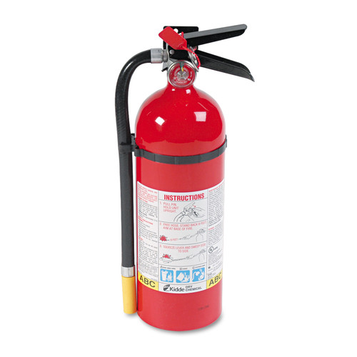 Kidde 466112 Proline Pro 5 Mp Fire Extinguisher, 3 A, 40 B:c, 195psi, 16.07h X 4.5 Dia, 5lb image number 0