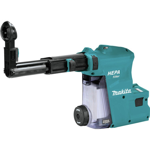 Makita DX08 Dust Extractor Attachment with HEPA Filter for XRH08 image number 0