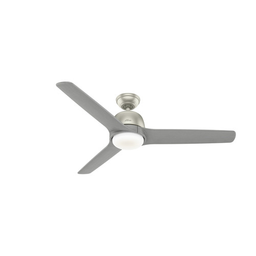 Hunter 59424 54 in. Norden Matte Nickel Ceiling Fan with Light Kit and Remote image number 0