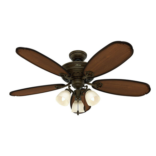 Hunter 54015 Prestige 54 in. Crown Park Tuscan Gold Ceiling Fan with Light