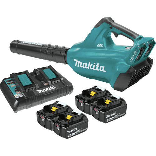 Makita XBU02PT1 18V X2 (36V) LXT Lithium-Ion Brushless Cordless Blower Kit with 4 Batteries (5.0Ah)