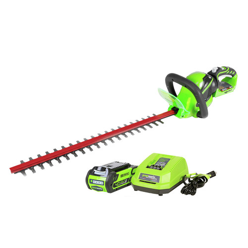 Greenworks 22262 40V G-MAX Lithium-Ion 24 in. Rotating Hedge Trimmer image number 0