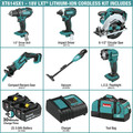 Makita XT614SX1 18V LXT Lithium-Ion 6-Piece Cordless Combo Kit (3 Ah) image number 1