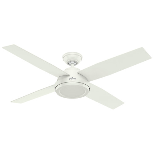 Hunter 59250 52 in. Dempsey Fresh White Ceiling Fan with Remote image number 0