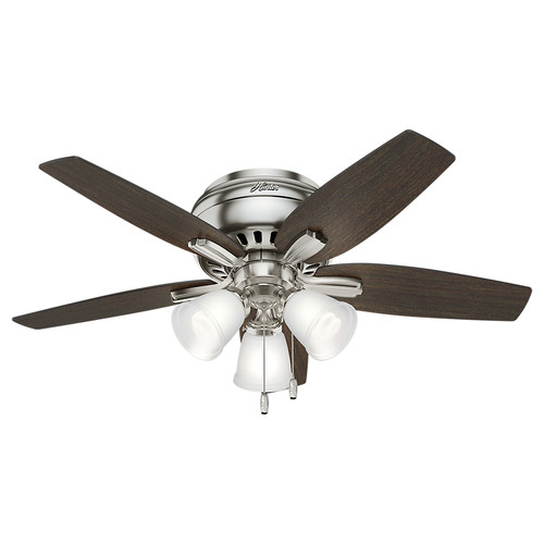 Hunter 51079 42 in. Newsome Brushed Nickel Ceiling Fan with Light