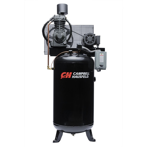 Campbell Hausfeld CE7001 7.5 HP Two-Stage 80 Gallon Oil-Lube 3 Phase Stationary Vertical Air Compressor