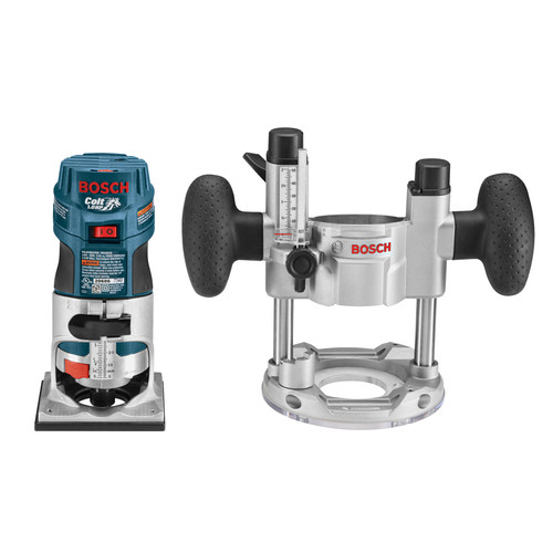 Bosch PR20EVSPK Colt Palm Grip 5.6 Amp 1 HP Variable-Speed Combination Plunge and Fixed-Base Router Kit