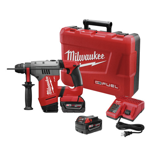 Milwaukee 2715-22 M18 FUEL 18V Cordless Lithium-Ion 1-1/8 in. SDS Plus Rotary Hammer Kit
