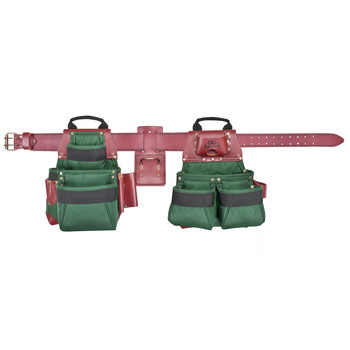 CLC 54531X 17 Pocket - Top of the Line Pro Framer's Ballistic Nylon Combo Tool Belt System-XL