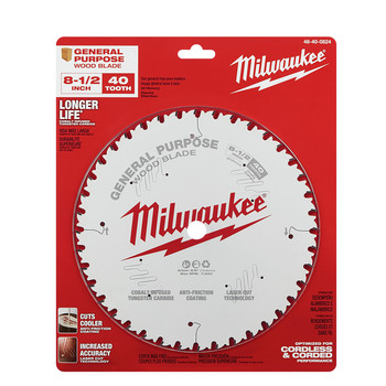Milwaukee 48-40-0824 8-1/2 in. 40T General Purpose Circular Saw Blade image number 1