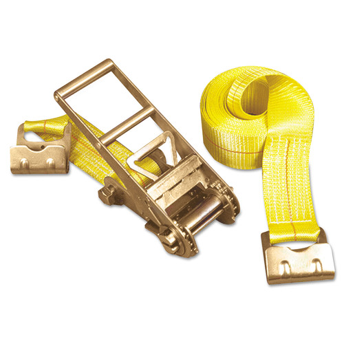 Keeper Inc, The 4637 15,000 lbs. Capacity 3 in. x 27 ft. Ratchet Tie-Down Flat Hook Ends Strap