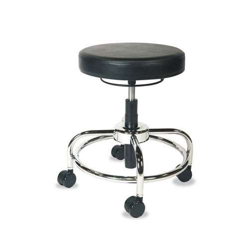 Alera ALECS614 HL Series Height-Adjustable Utility Stool (Black)