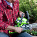 Greenworks 2000219 2000219 40V/12 in. Cordless Chainsaw with 2 Ah Battery and Charger image number 2