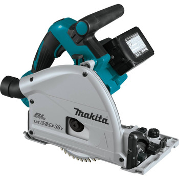 Factory Reconditioned Makita XPS01PTJ-R 18V X2 5.0 Ah Cordless Lithium-Ion Brushless 6-1/2 in. Plunge Circular Saw Kit image number 1