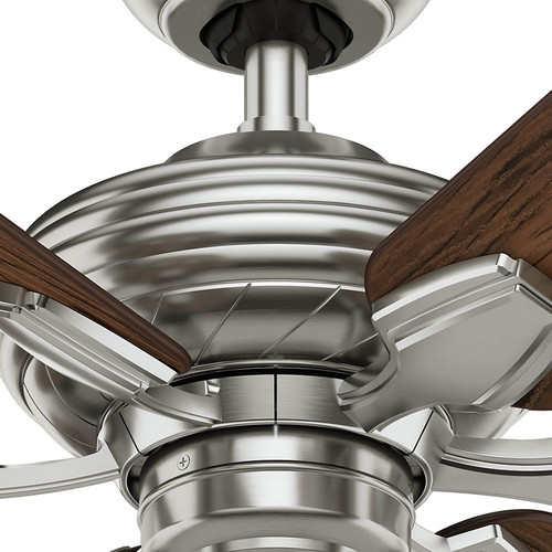 Casablanca 59524 31 in. Traditional Wailea Brushed Nickel Dark Walnut Outdoor Ceiling Fan image number 4