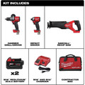 Milwaukee 2998-23 M18 FUEL Brushless Lithium-Ion Cordless 3-Tool Combo Kit (5 Ah) image number 1