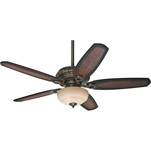 Hunter 54140 54 in. Kingsbridge Traditional Roman Sienna Burnished Cherry Indoor Ceiling Fan with 3 Lights