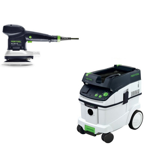 Festool ETS 150/5 EQ 6 in. Random Orbital Finish Sander with CT 36 AC AutoClean 9.5 Gallon Mobile Dust Extractor