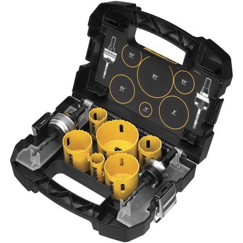 Dewalt D180002 9-Piece Electrician's Hole Saw Kit
