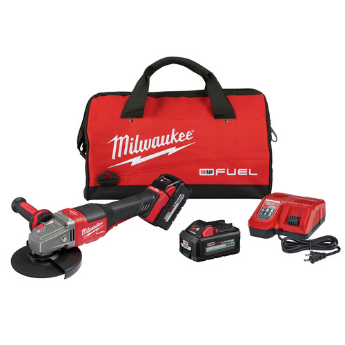 Milwaukee 2980-22 M18 FUEL 4-1/2 in. - 6 in. Braking Grinder Kit with No-Lock Paddle Switch & (2) 6 Ah Li-Ion Batteries image number 0