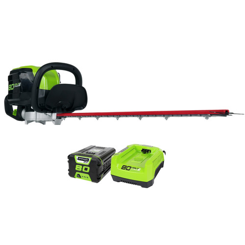 Greenworks GHT80321 80V Cordless Lithium-Ion 24 in. Hedge Trimmer Kit
